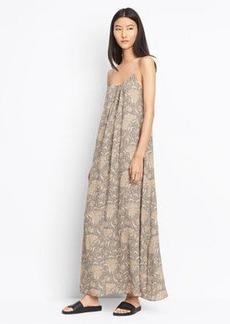 Vintage Floral Shirred Tank Dress