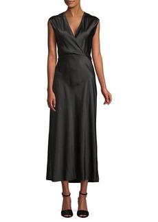 Vince Vintage Polka Dot Silk Dress
