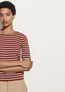 Vince Vintage Stripe Elbow Sleeve Crew