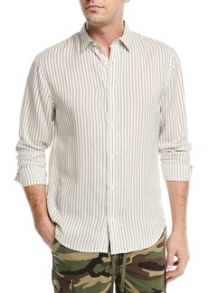 Vince Vintage Striped Long-Sleeve Shirt
