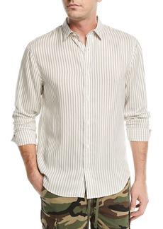 Vince Vintage Striped Long-Sleeve Shirt