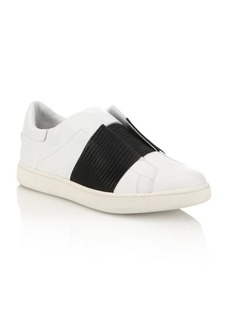 Vince Vista Lizard-Embossed Leather Slip-On Sneakers
