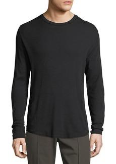 Vince Waffle-Knit Long-Sleeve T-Shirt
