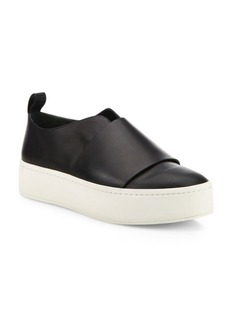 Vince Wallace Leather Platform Skate Sneakers
