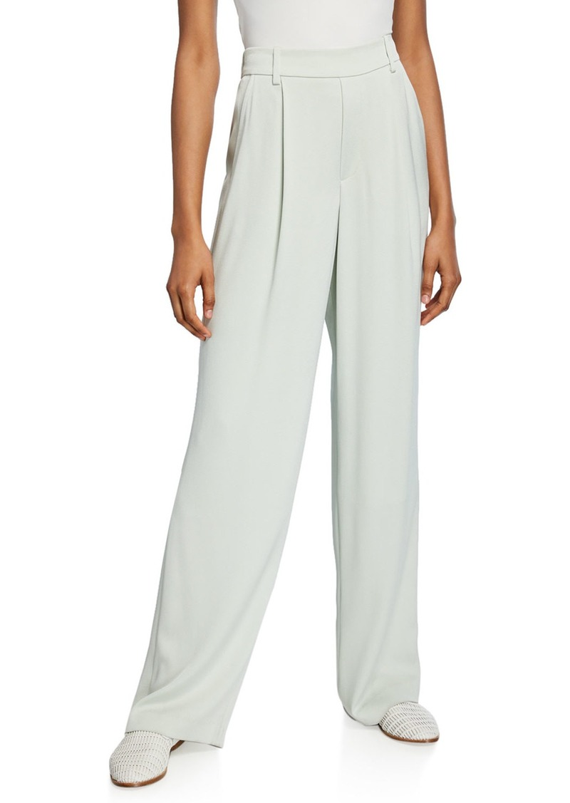 Vince Wide-Leg Pleated Pull-On Pants
