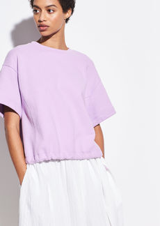 Vince Wide Sleeve Drawstring Pullover