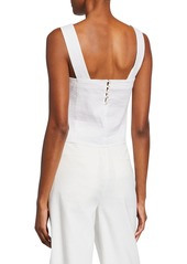 Vince Wide-Strap Cropped Shell  White