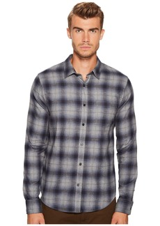 Vince Window Shadow Plaid Long Sleeve