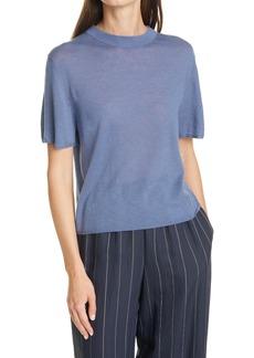 Women's Vince Easy Wool Blend Short Sleeve Sweater