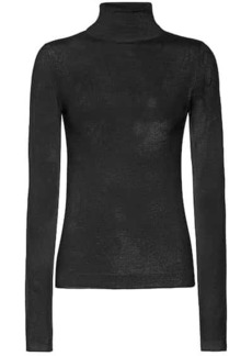 Vince Wool and silk turtleneck sweater