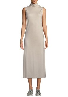 Vince Wool-Blend Sleeveless Turtleneck Long Dress