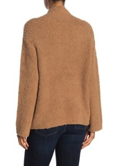 Vince Wool Blend Textured Mock Neck Sweater