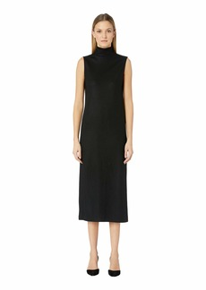 Vince Wool Blend Turtleneck Dress