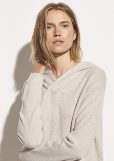 Vince Wool Cashmere Cross Front Hoodie
