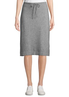Vince Wool-Cashmere Drawstring Sweater Skirt
