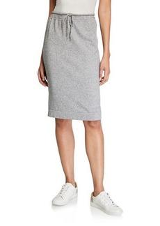 Vince Wool-Cashmere Drawstring Sweater Skirt