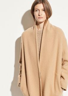 Vince Wool Collarless Coat