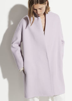 Vince Wool Collarless Coat