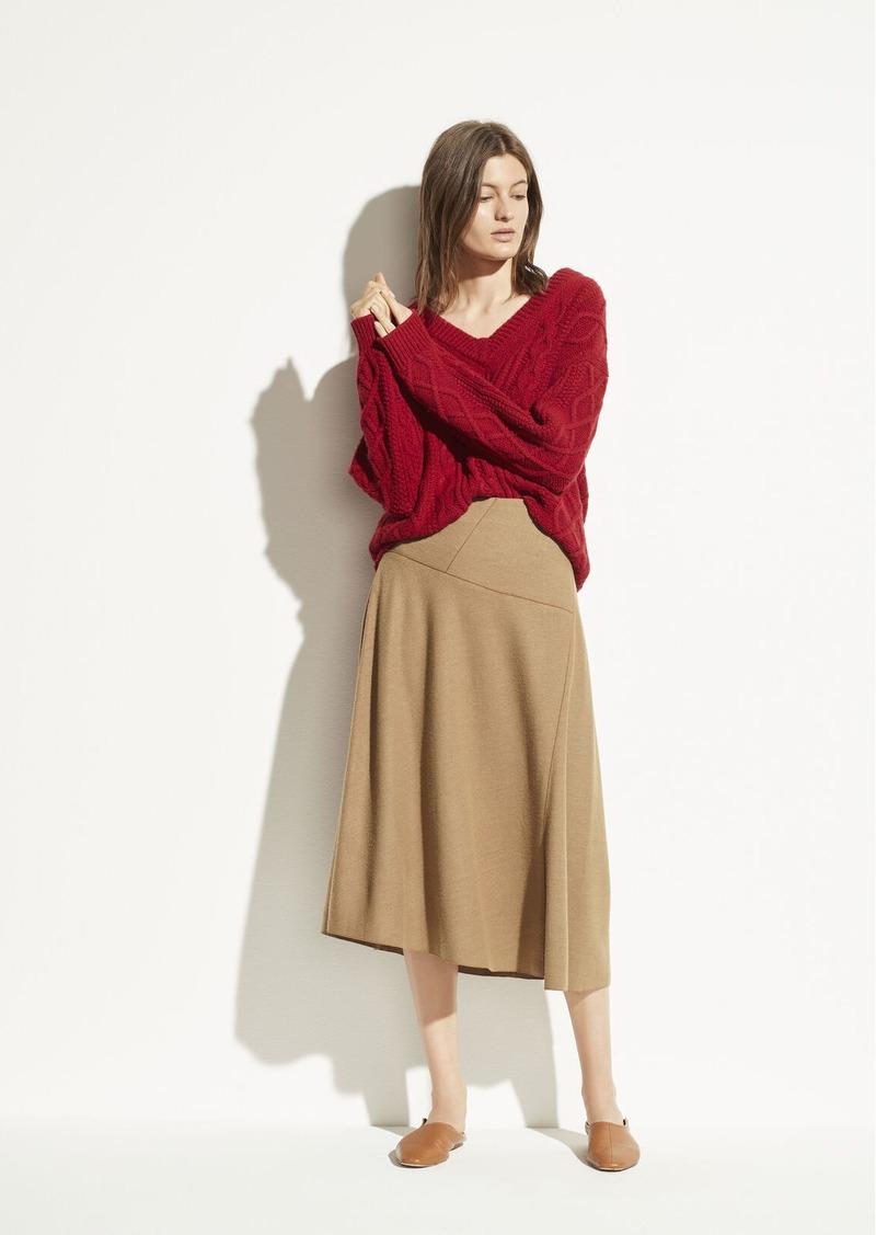Vince Wool Paneled Skirt