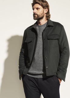 Vince Wool Quilted Overshirt