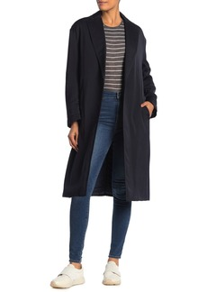 Vince Button Front Notch Collar Coat