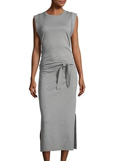 Vince Wrap-Waist Cotton Midi Dress