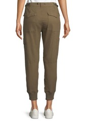 Vince Zip-Front Military Cargo Joggers