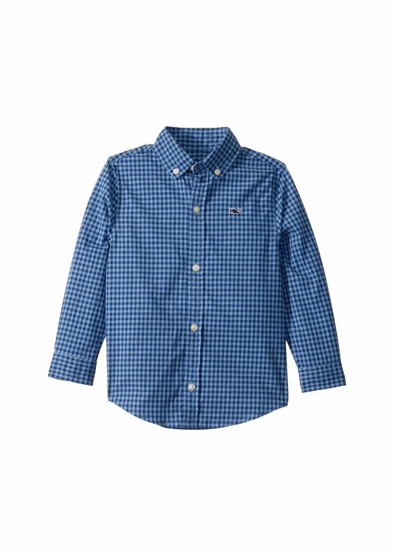 Vineyard Vines Alicetown Gingham Whale Shirt (Toddler/Little Kids/Big Kids)