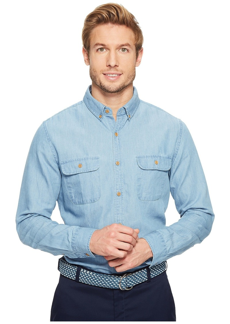 Vineyard Vines Baughers Chambray Two-Pocket Crosby Shirt
