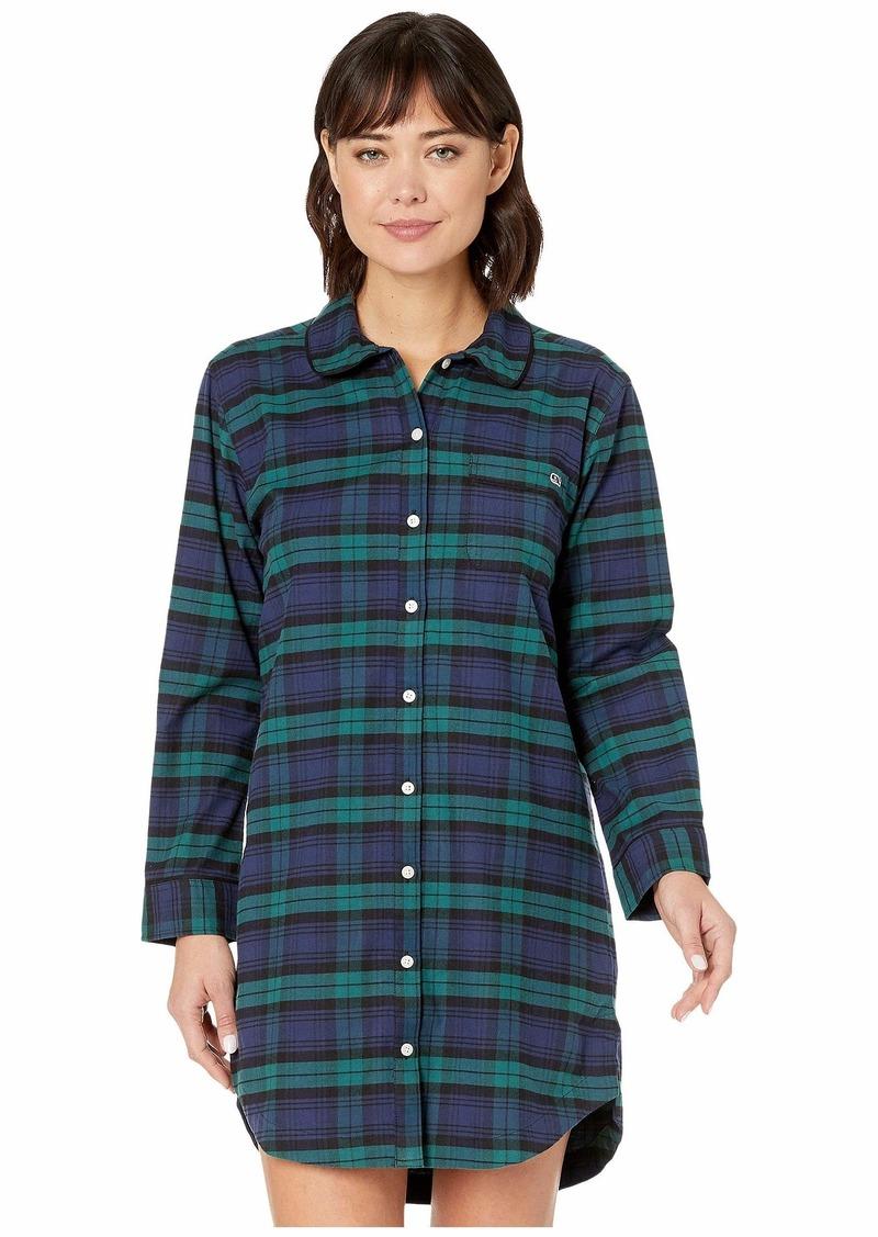 Vineyard Vines Blackwatch Flannel Sleep  Shirt