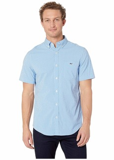 Vineyard Vines Blanchard Gingham Performance Short Sleeve Tucker Shirt