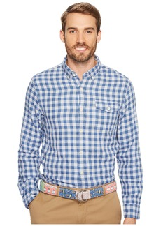 Vineyard Vines Blue Heron Gingham Slim Crosby Shirt