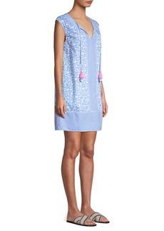 Vineyard Vines Border Otomi Printed Tassel Shift Dress