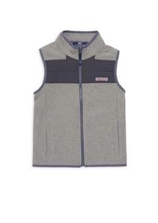Vineyard Vines Boy's Fleece Quilt Sweater Vest