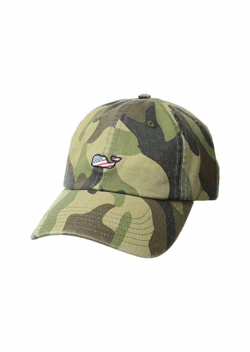 563823b99ee85 On Sale today! Vineyard Vines Camo Flag Whale Baseball Hat