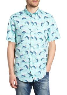 Vineyard Vines Classic Fit Print Short Sleeve Sport Shirt