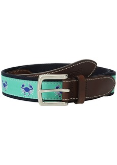Vineyard Vines Crab Icon Canvas Club Belt