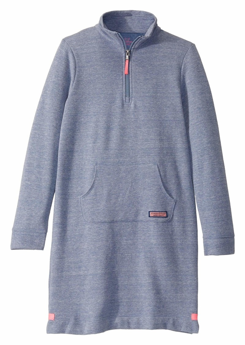 Vineyard Vines Crew Neck Sweatshirt Dress (Toddler/Little Kids/Big Kids)