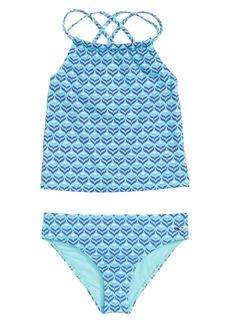 Vineyard Vines Diamond Whaletail Two-Piece Swimsuit (Toddler Girls, Little Girls & Big Girls)