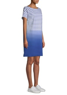 Vineyard Vines Dip-Dyed Stripe Cotton T-Shirt Dress