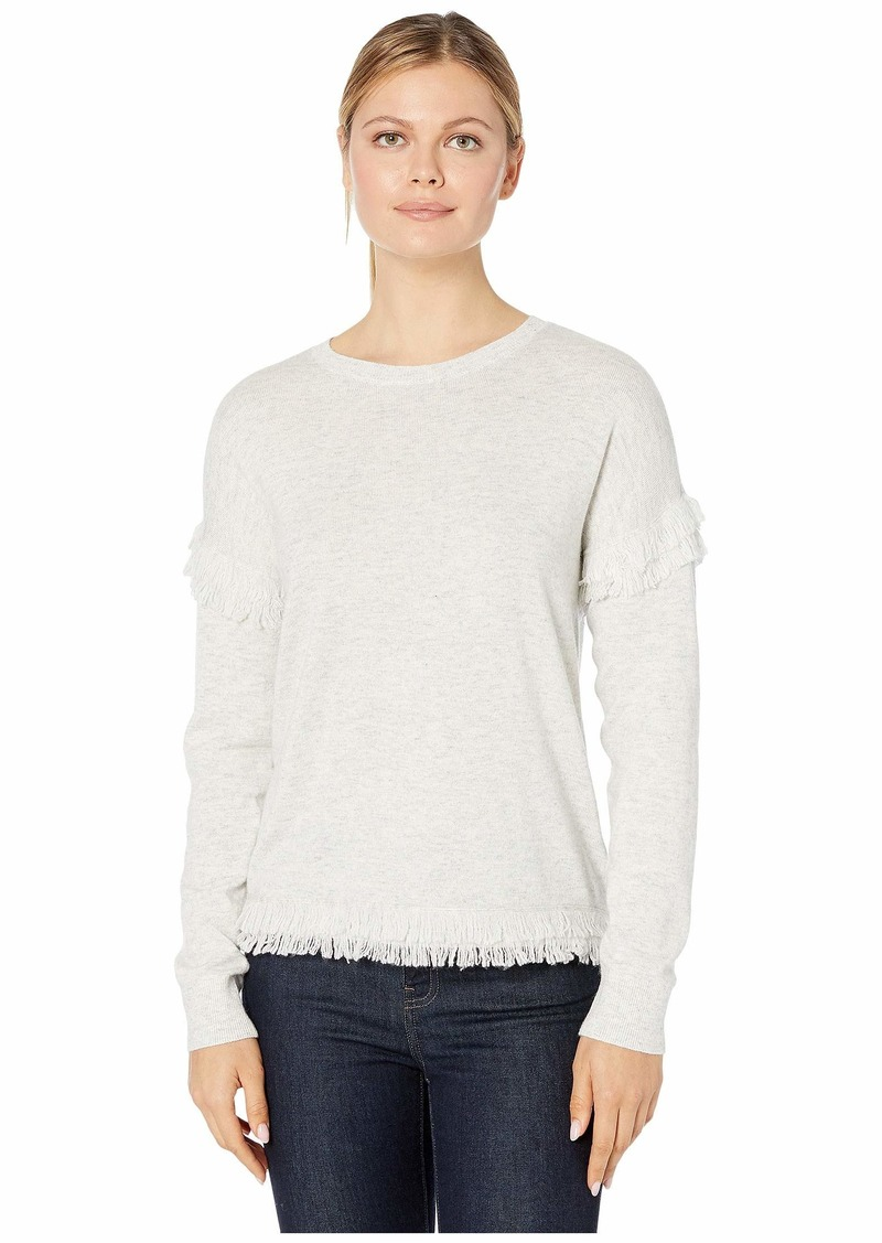 Vineyard Vines Drop Shoulder Fringe Sweater