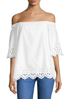 Vineyard Vines Eyelet Cotton Off-The-Shoulder Top