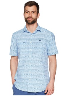 Vineyard Vines Fish Hook Wave Short Sleeve Harbor Shirt