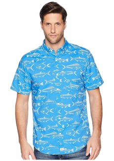 Vineyard Vines Fish Outlines Short Sleeve Classic Murry Shirt