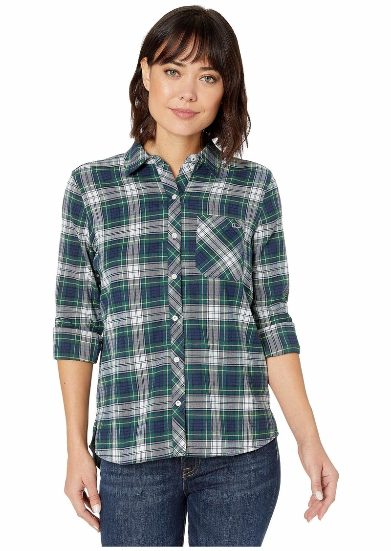 Vineyard Vines Flannel Relaxed Button-Down