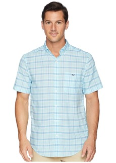 Vineyard Vines Flat Point Plaid Short Sleeve Classic Tucker Shirt