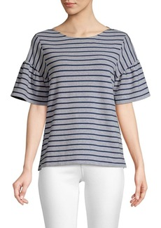 Vineyard Vines Flutter Sleeve Stripe Top