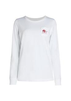Vineyard Vines Football Whale Pocket Long-Sleeve T-Shirt