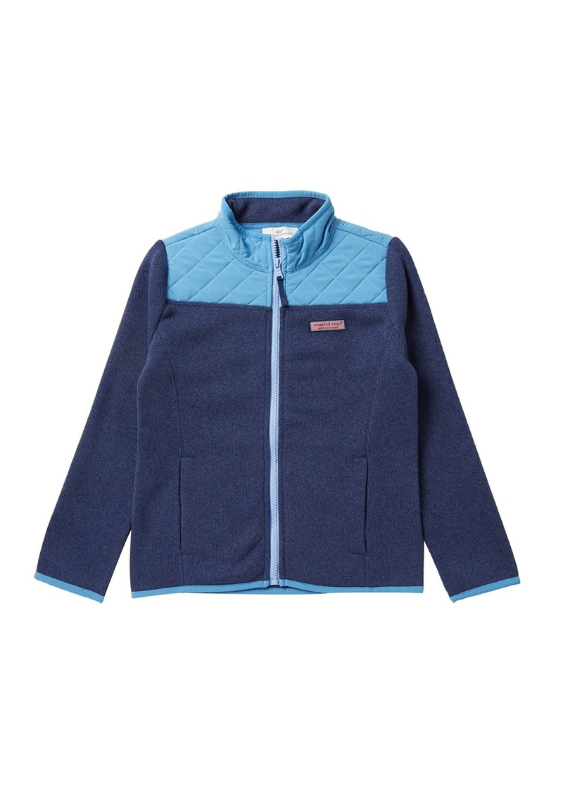 Vineyard Vines Full Zip Fleece Sweater (Toddler, Little Girls, & Big Girls)