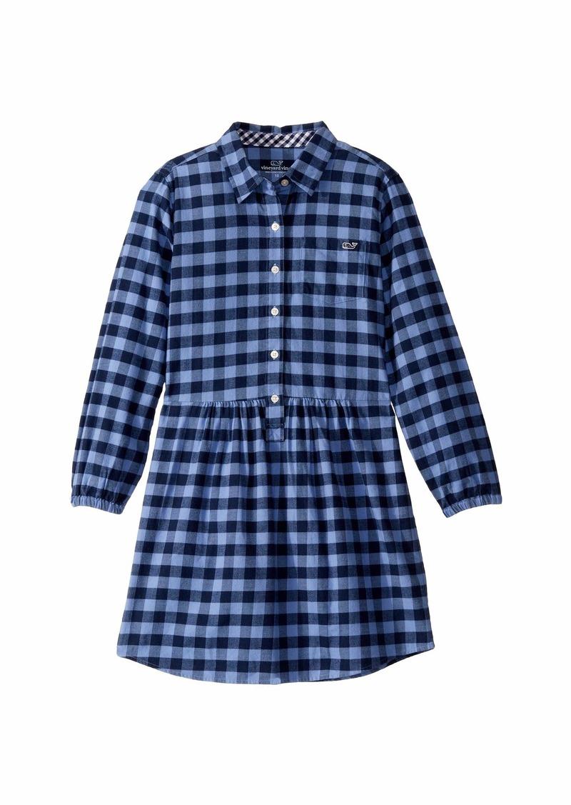 Vineyard Vines Gingham Flannel Shirtdress (Toddler/Little Kids/Big Kids)
